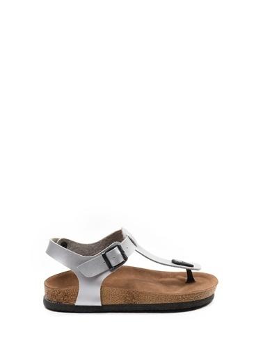 Sapin Sandalet Gümüş